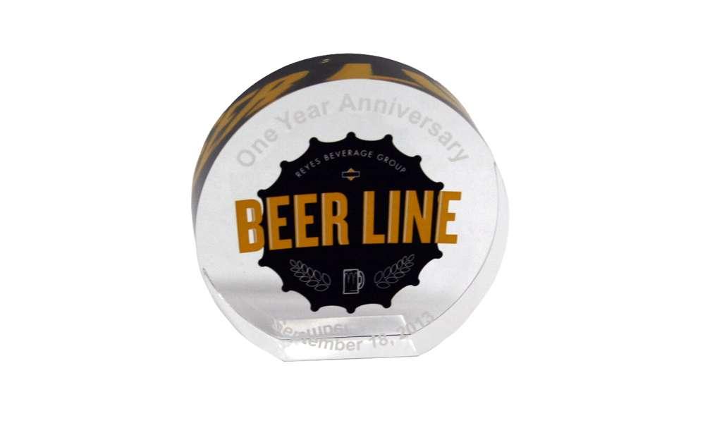 Reyes Beverage Group Beer Line Anniversary Award