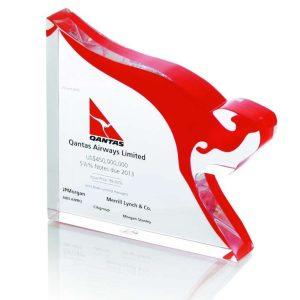 Qantas Airways Custom Lucite