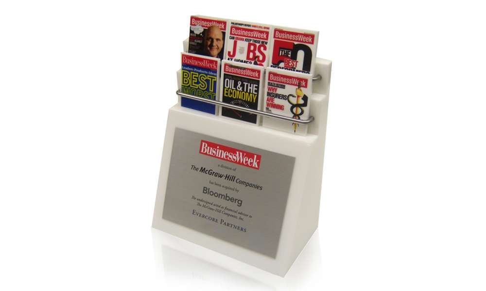 Business Week Lucite Tombstone