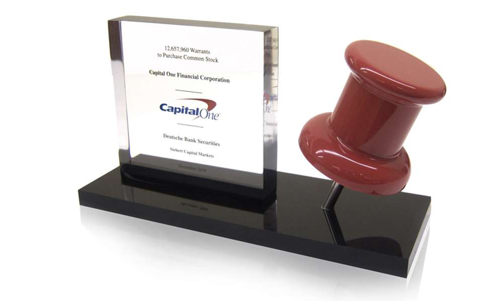 Capital One Financial Tombstone