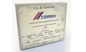 Cemex Resin Financial Tombstone