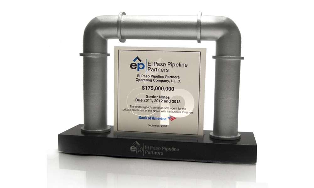 El Paso Pipeline Custom Lucite Deal Toy