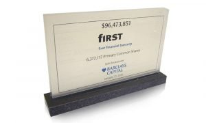 First Financial Bancorp Marble and Crystal Deal Toy