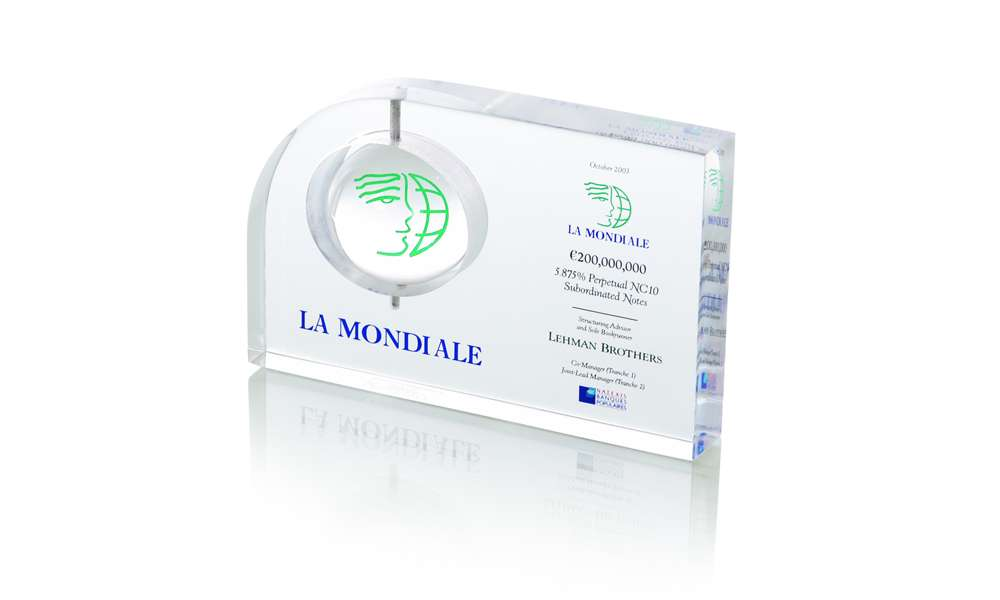 Lamondiale Spinning Element Technique Crystal Tombstone
