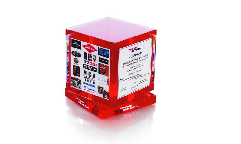 Vivendi Universal Spinning Element Cube Custom Deal Toy
