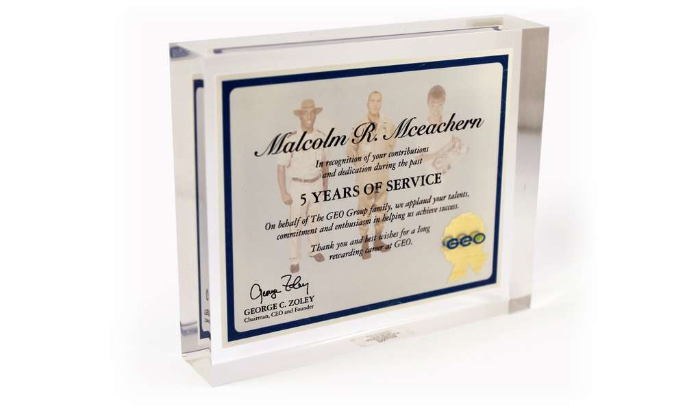 GEO Service Award Recognition Product