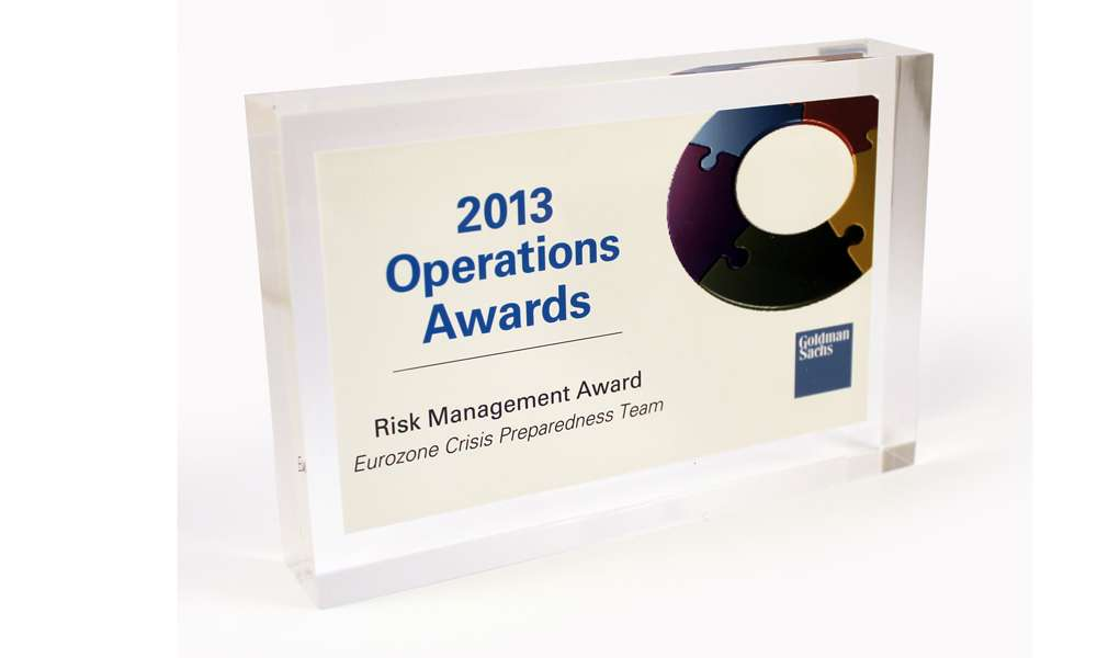 Goldman Sachs Operations Award Deal Toy - The Corporate Presence