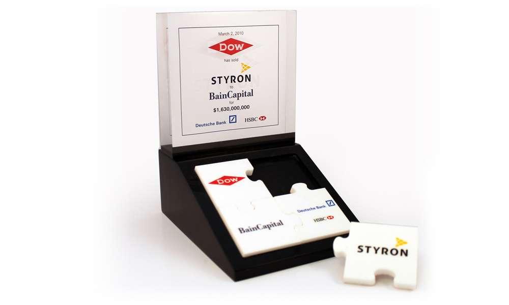 Styron Custom Lucite Tombstone