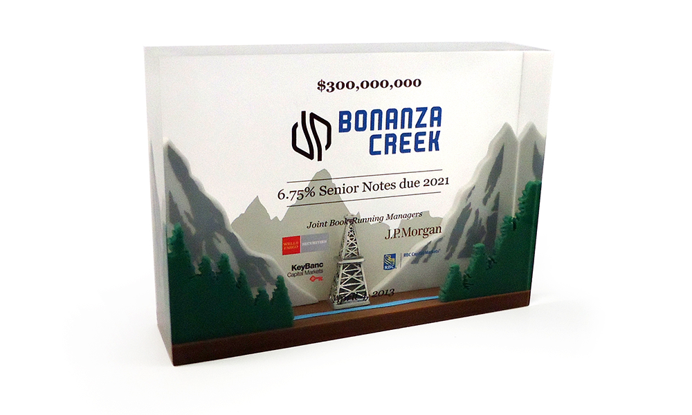 Bonanza Creek Energy Lucite Dealtoy