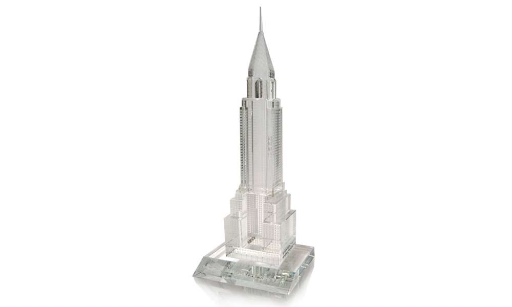 Empire State Building Custom Lucite Tombstone