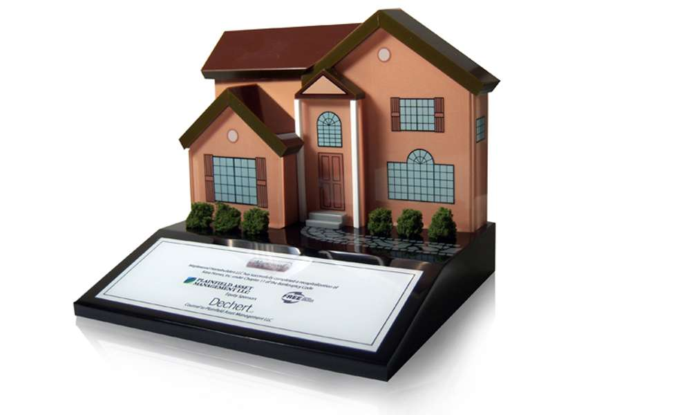 House Lucite Tombstone