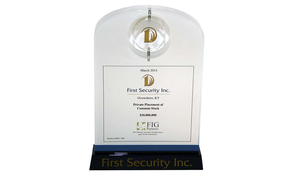 First Security Lucite Deal Toy