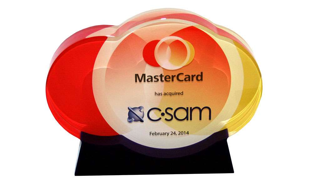 Mastercard Lucite Tombstone