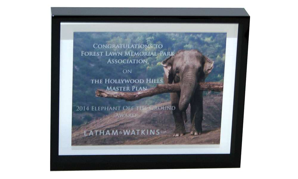 Latham & Watkins Congratulatory Commemorative | Forest Lawn Memorial Park Association