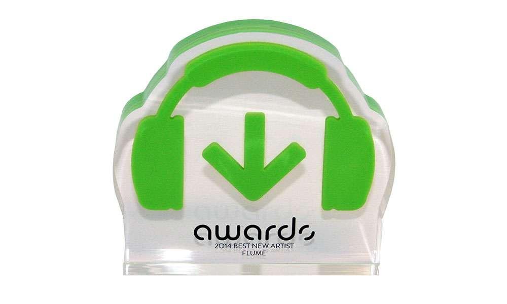 Custom Lucite Award Flume Beatport
