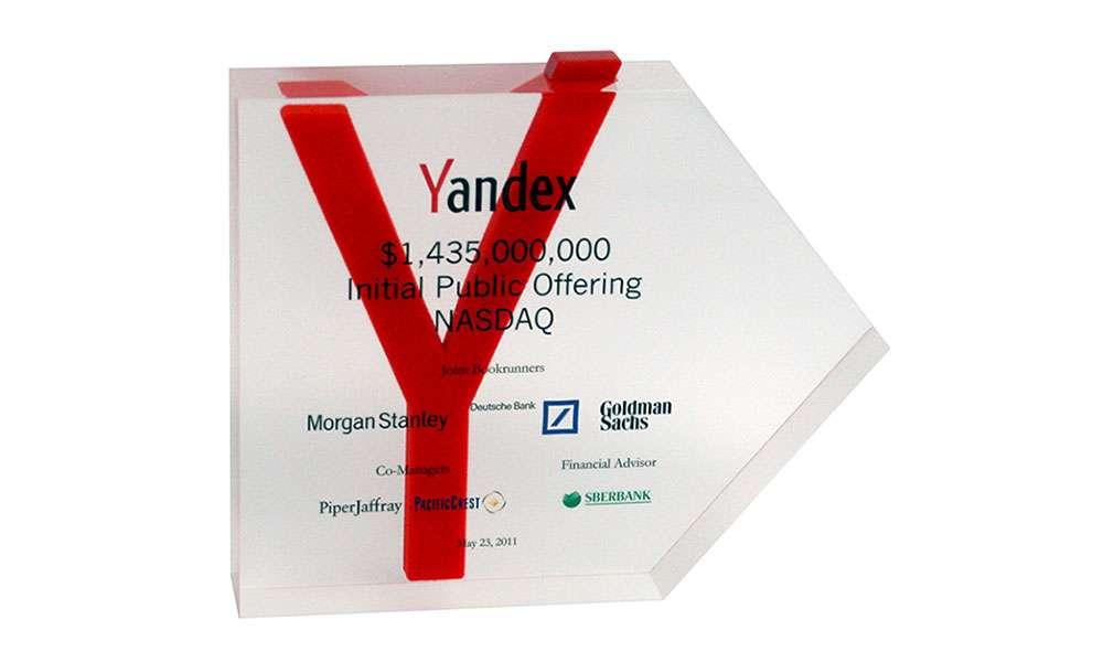 Yandex IPO Lucite