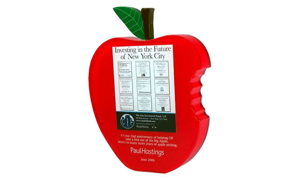 Big Apple-Themed Appreciation Award