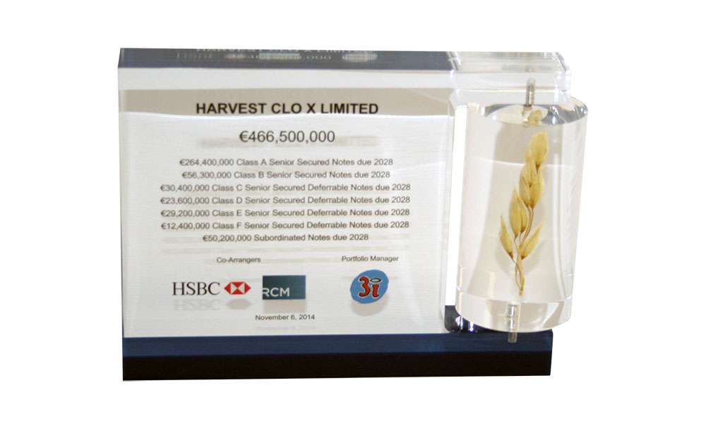 Acrylic Embedment with Wheat Stalk   Harvest   Food and Beverage