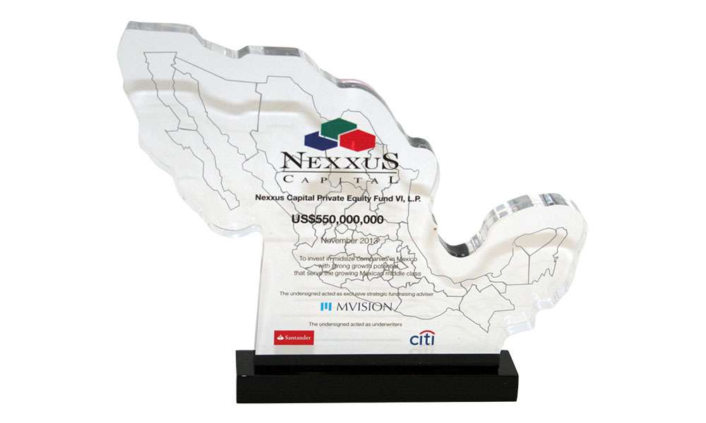 Mexico-Themed Fund Closing Commemorative