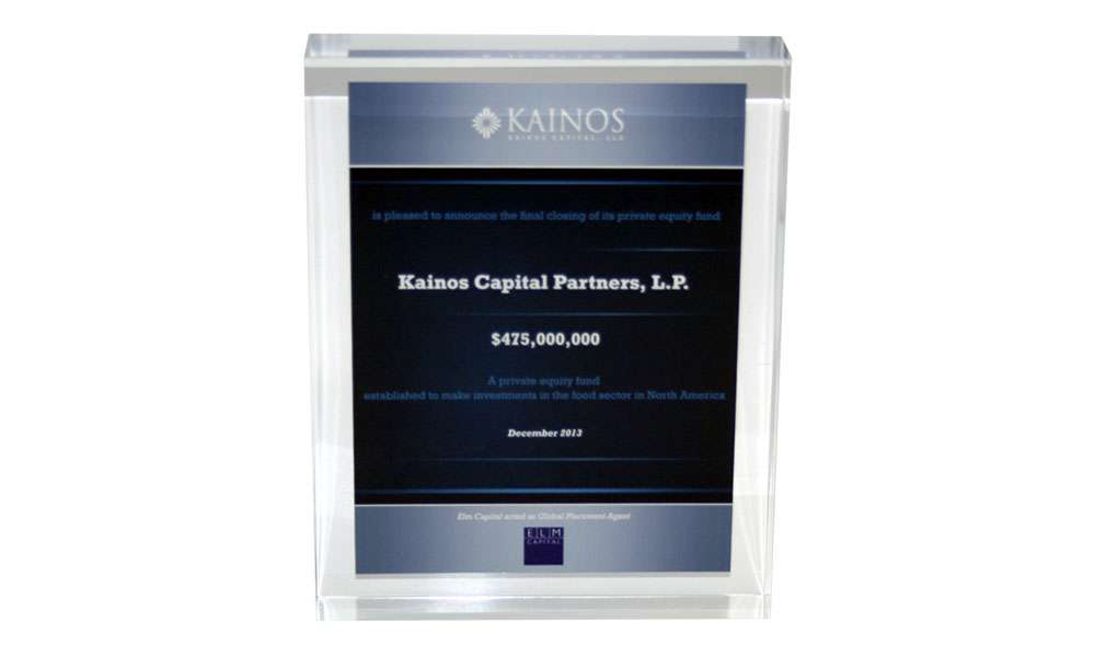 Private Equity Fund Tombstone