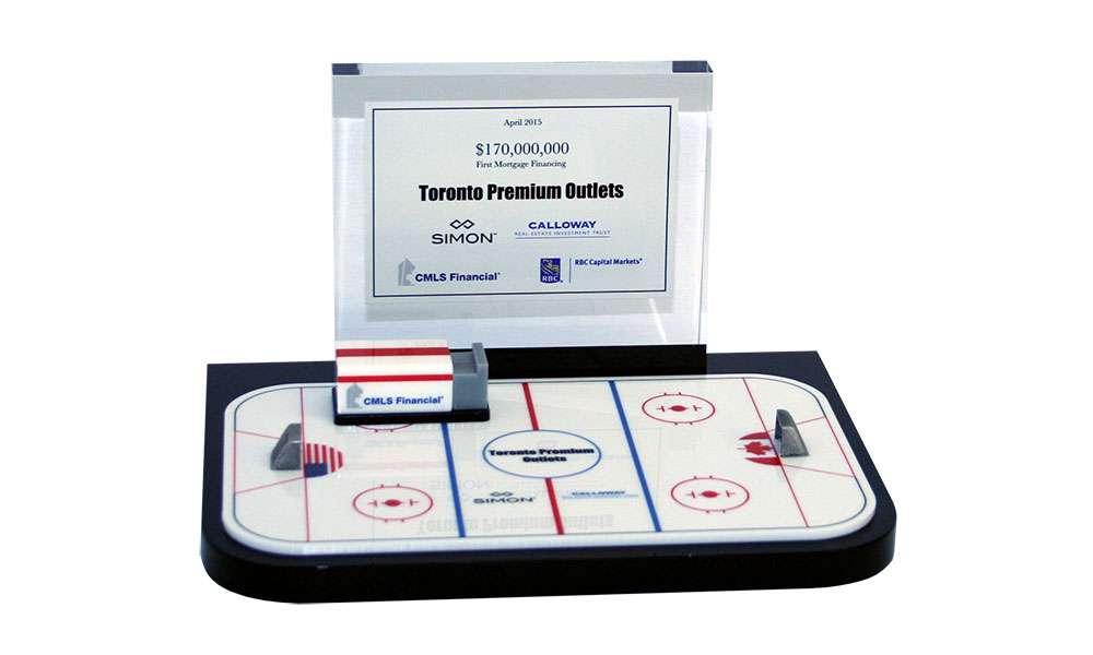 Hockey-Themed Custom Lucite