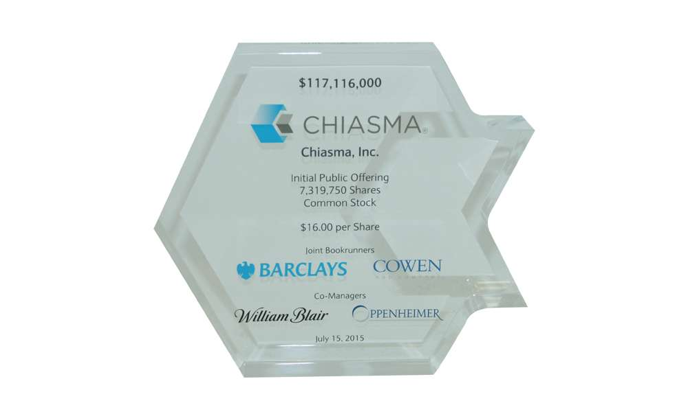 Biotech IPO Tombstone Chiasma