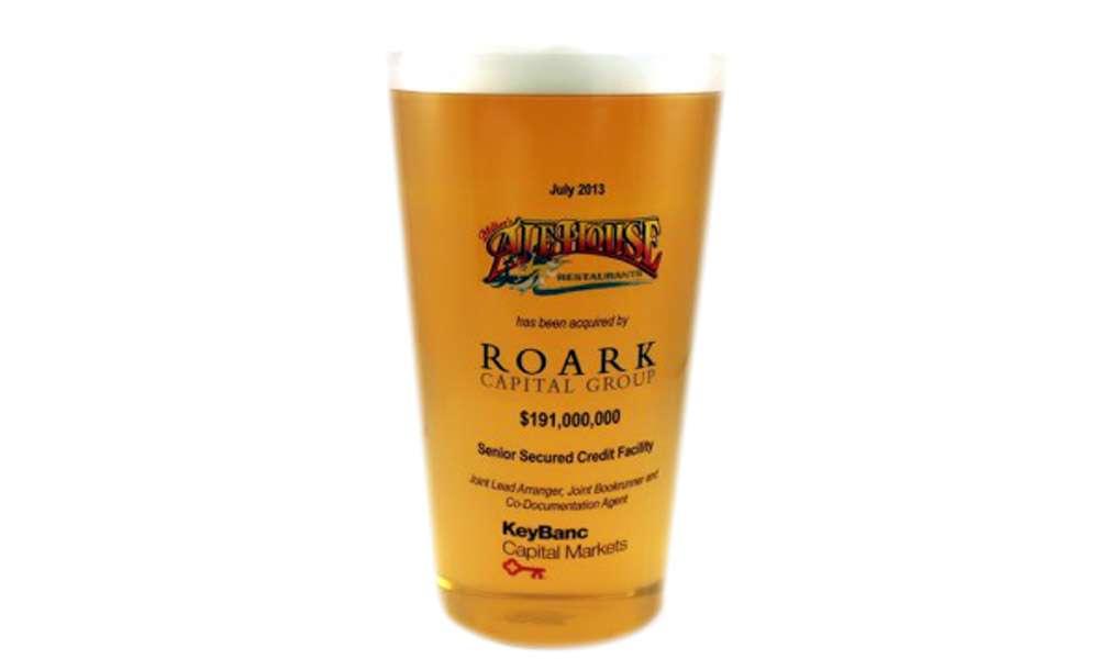 Custom Lucite Beer Glass