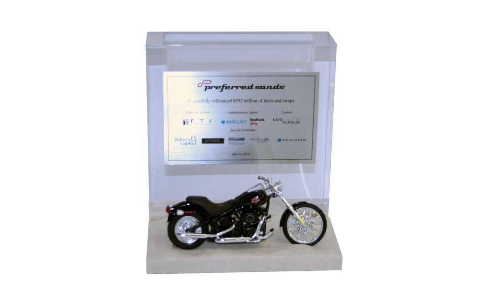 Motorcycle-Themed Deal Tombstone