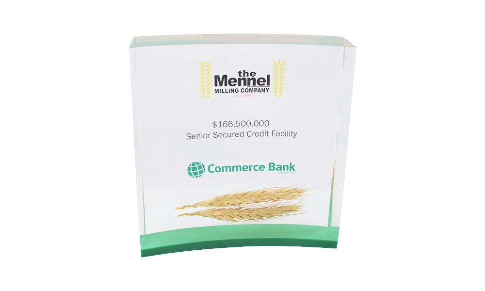 Corporate Tombstone with Embedded Wheat Stalk