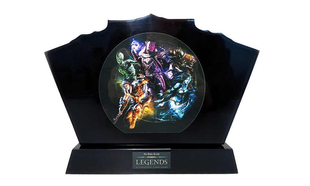 Gaming-Themed Lucite Tombstone