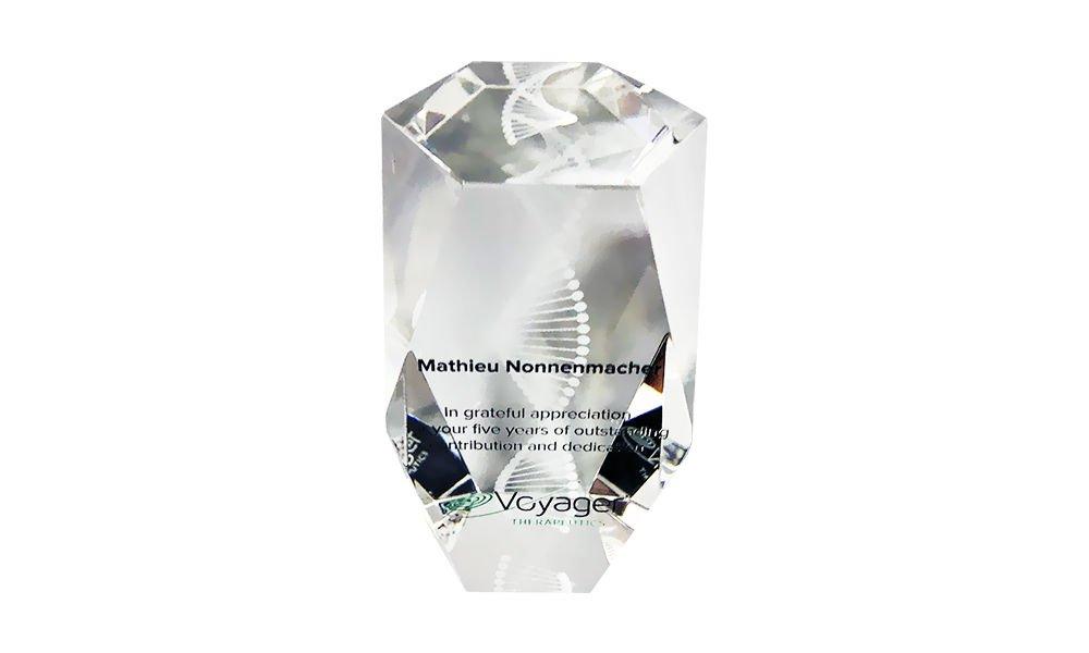 DNA Strand-Themed Custom Crystal Award