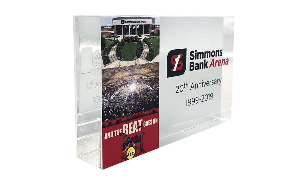 Crystal Commemorative for Arena Rebranding