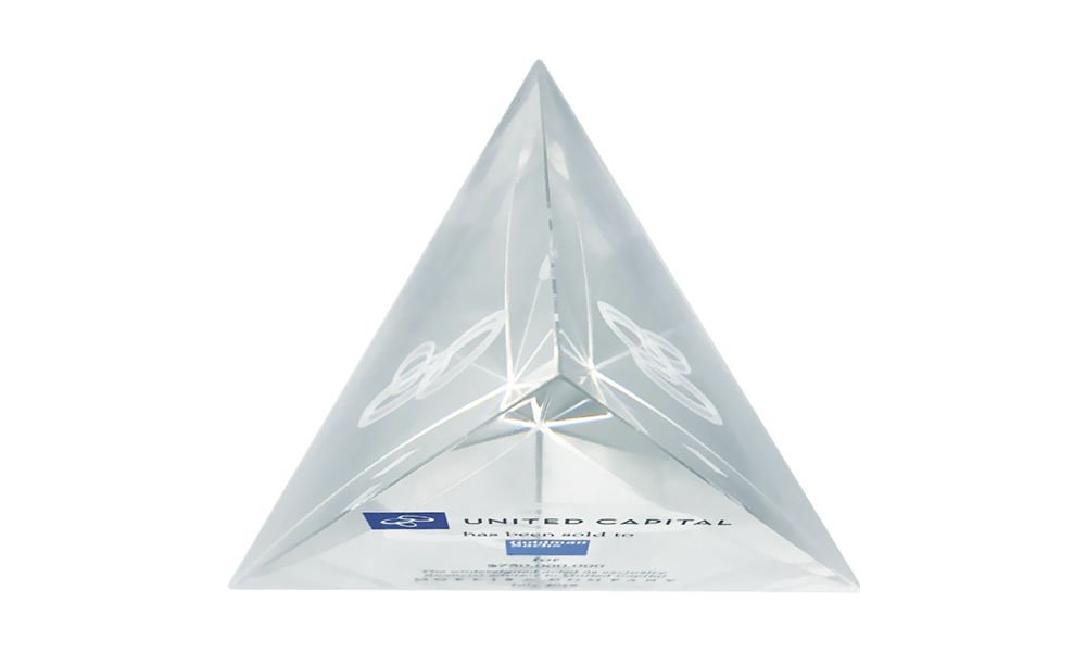 Pyramid-Shaped Crystal Deal Toy