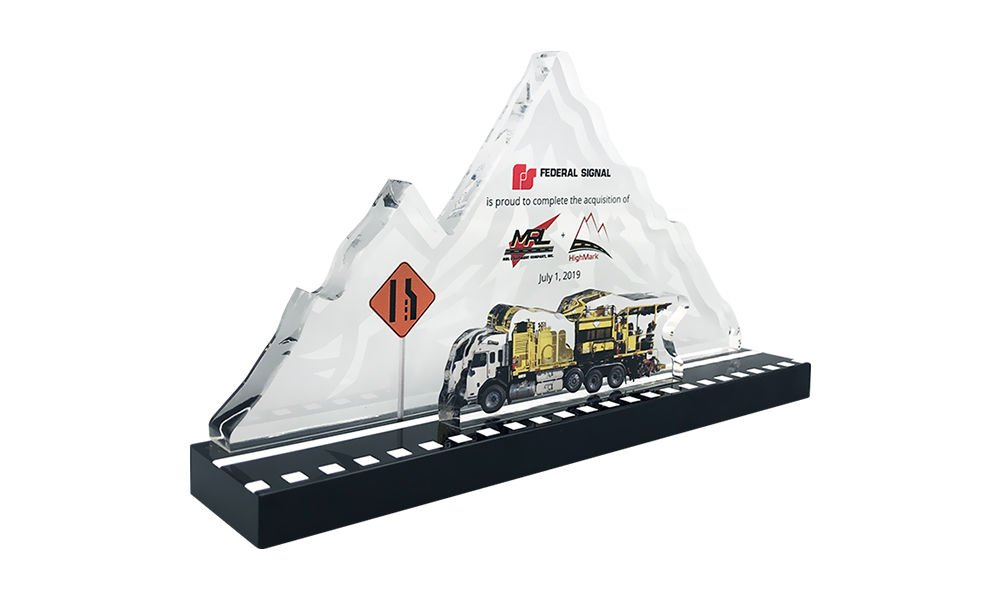 Highway-Themed Crystal Deal Tombstone