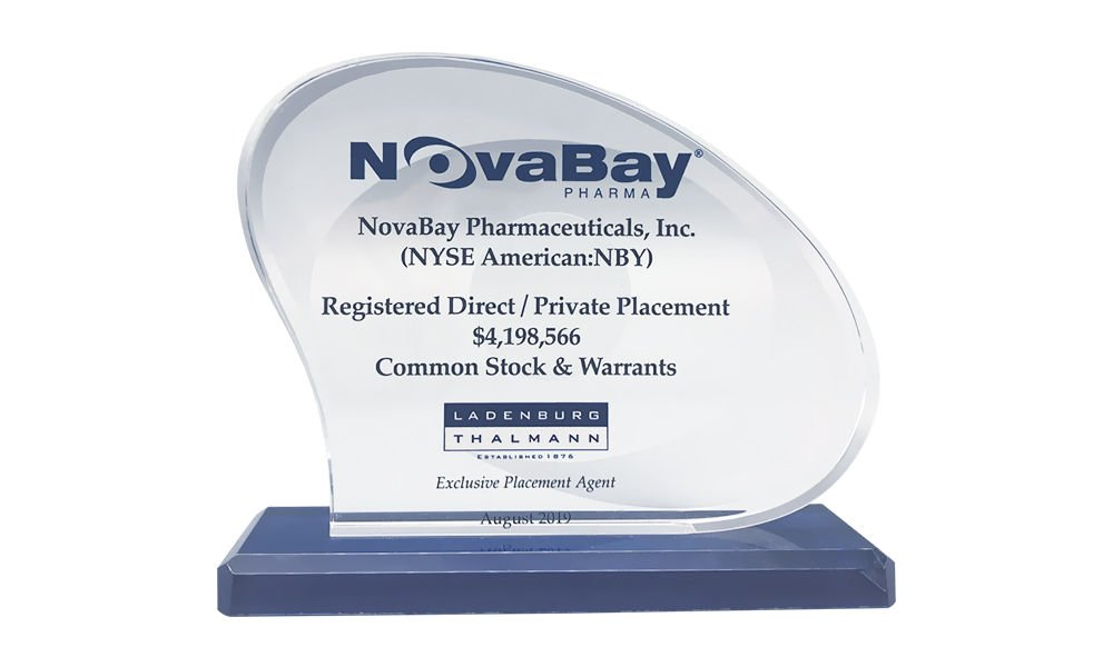 Pharma Private Placement Tombstone