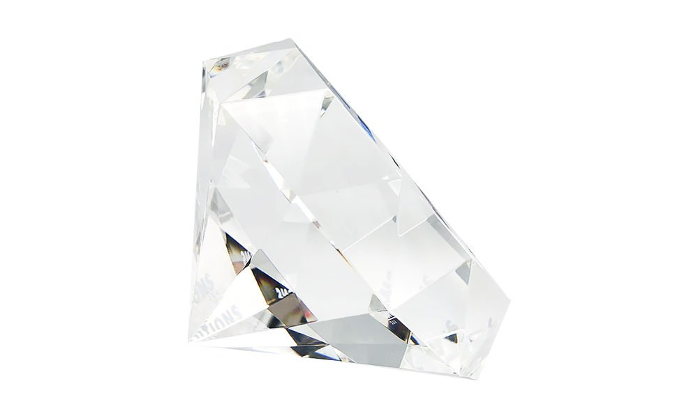 Diamond-Shaped Crystal Deal Tombstone (Side View)