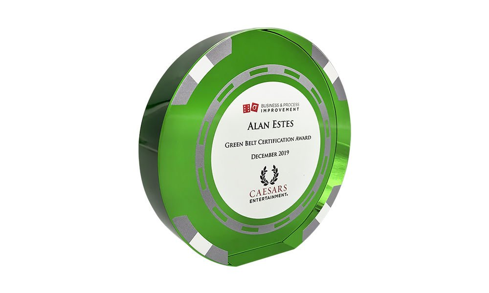 Casino Chip-Themed Employee Recognition Award