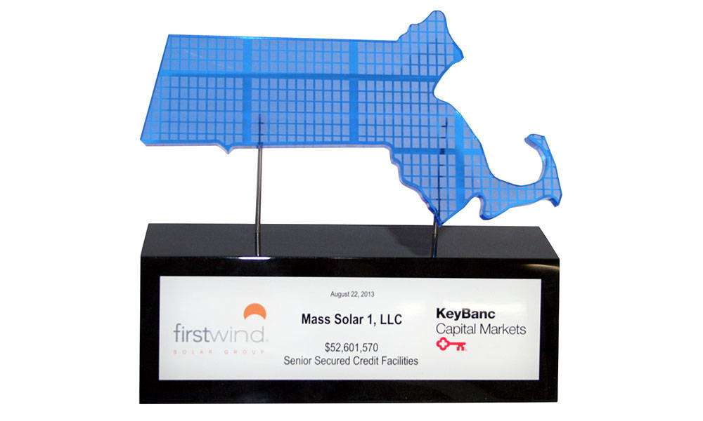 Solar-Themed Lucite Tombstone