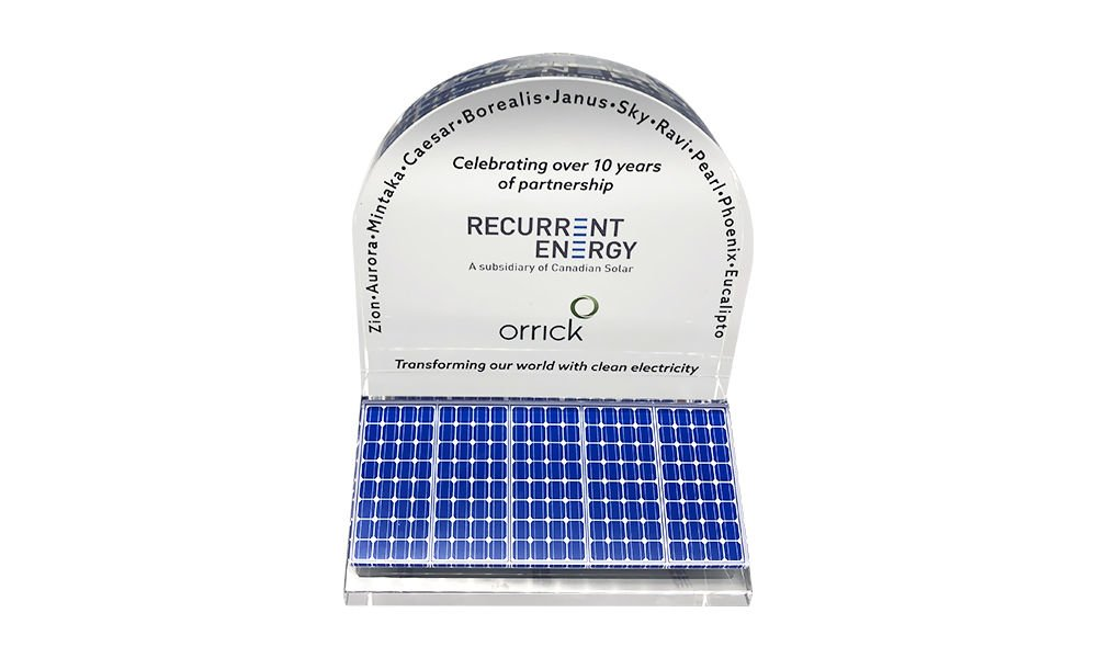 Solar-Themed Partnership Commemorative