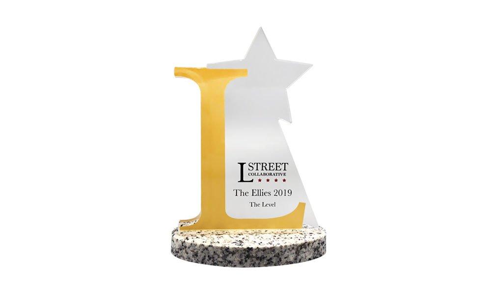 Star-Themed Crystal Award