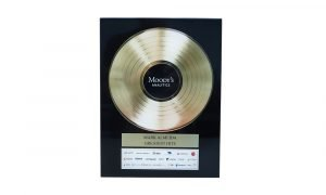 """Gold Record""-Themed Custom Award"
