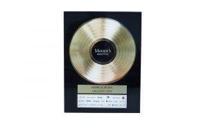 """Gold Record""-Themed Custom Award"