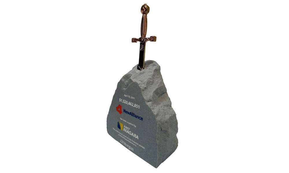 Sword-in-The-Stone Resin Deal Toy