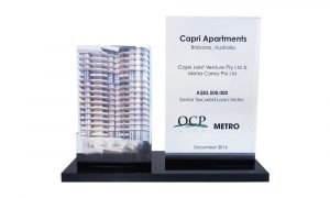 Apartment Complex Lucite Replica