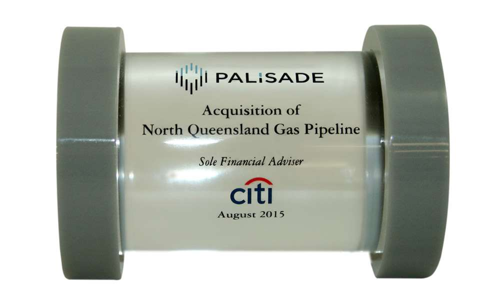 Pipeline-Themed Custom Lucite