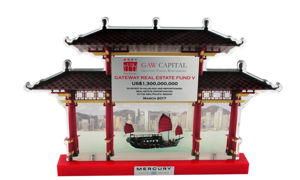 Asian-Themed Fund Closing Lucite
