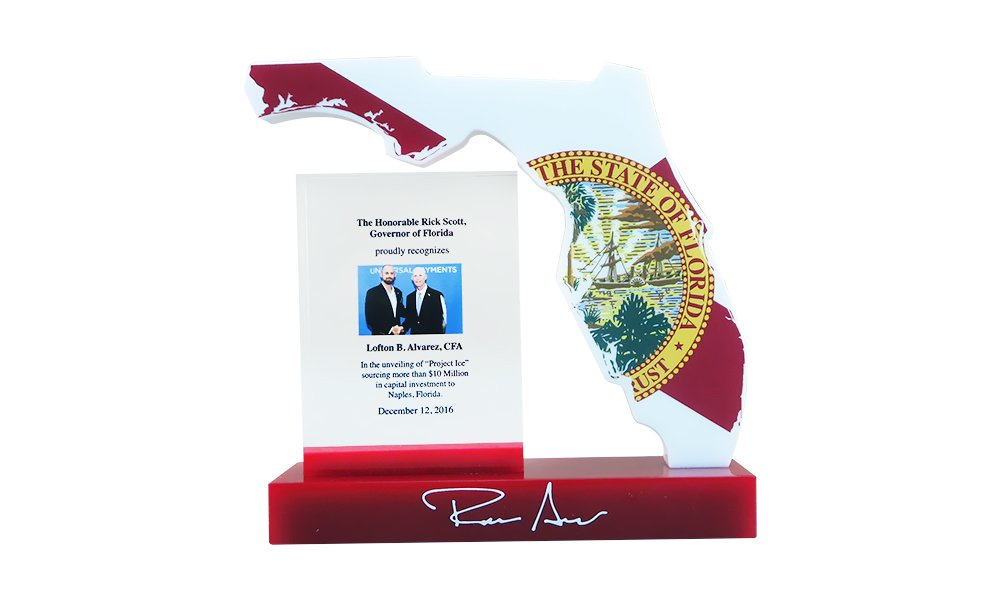 Florida-Themed Custom Award