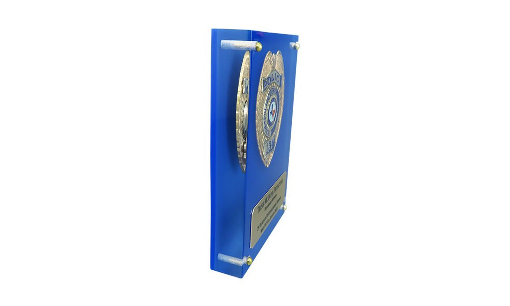 Custom Lucite with Embedded Police Badge