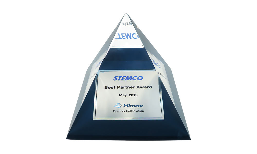 Pyramid-Shaped Lucite Award