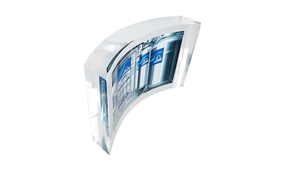 Curved Rectangle Lucite